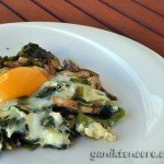 ıspanaklı mantarlı yumurta