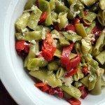 Közlenmiş Kırmızı biberli fasulye salatası