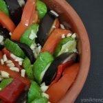 güveçte patlıcan ve kabak
