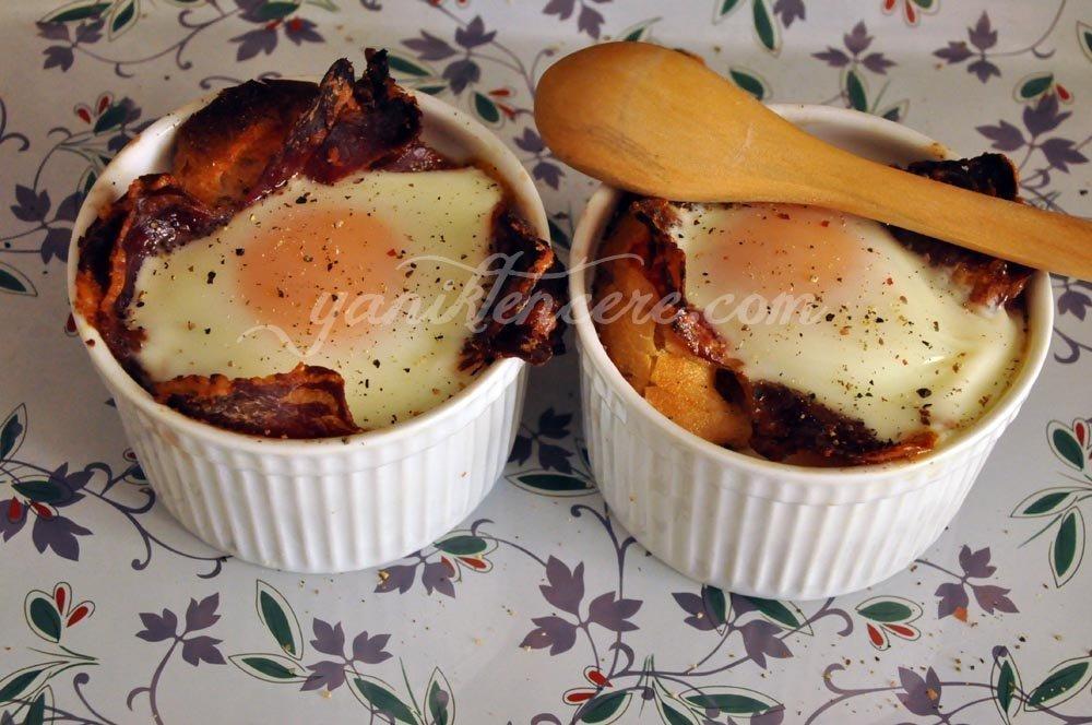 pastırmalı fırında yumurta 2